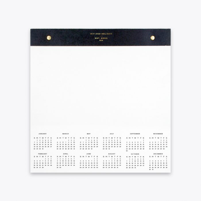 Desktop Notepad with 2018 Calendar