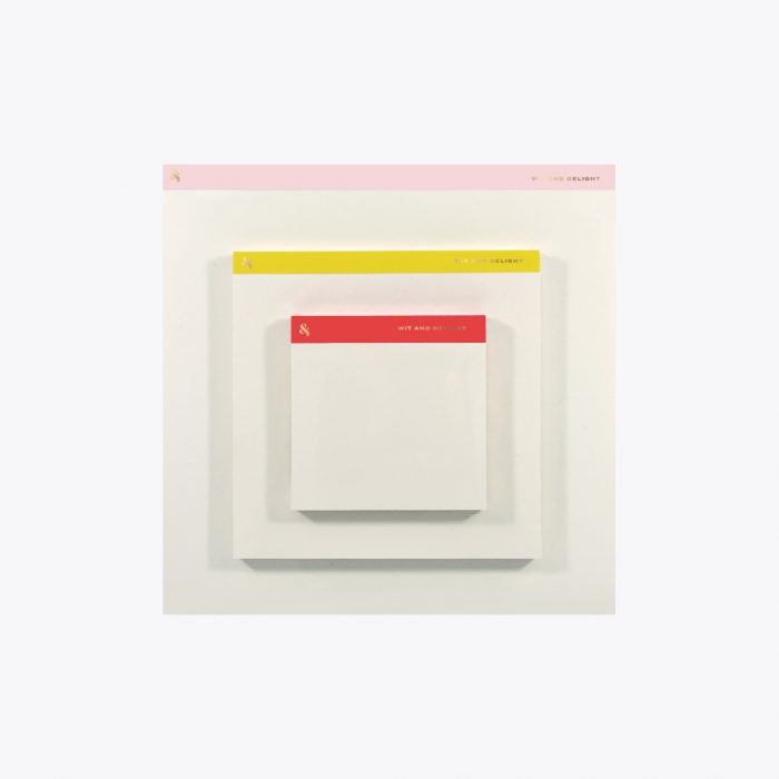 Desktop Notepad Set in Pink, Yellow and Red