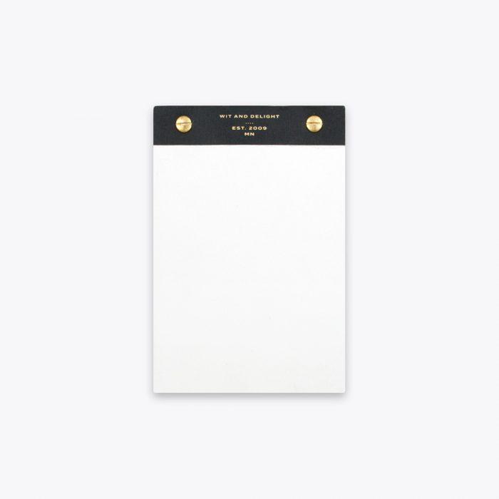 Black Desktop Notepad by Wit & Delight