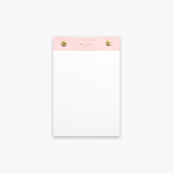 pink desktop notepad by wit & delight