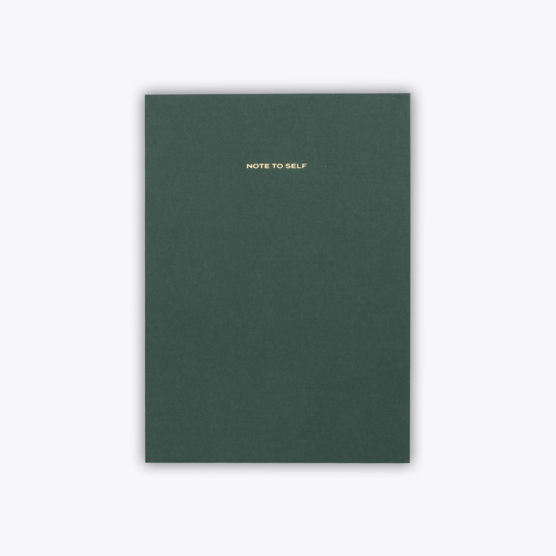 Green Note to Self Journal Front