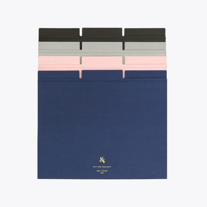Assorted File Folder Set by Wit & Delight