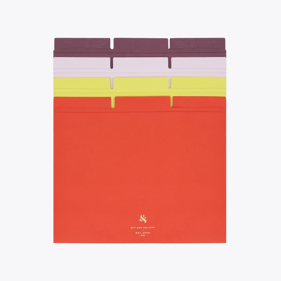 Assorted File Folder Set in Red, Yellow, Purple and Lavender by Wit & Delight