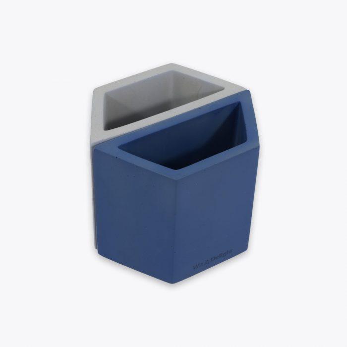 Concrete Square Organizer Navy Wit /& Delight Size: 4.5x4.5x1.25