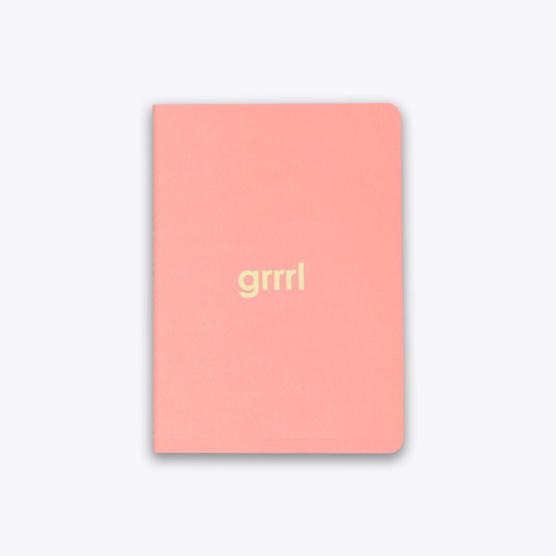 Grrrl Saddle Stitch Notebook by Ashley Mary