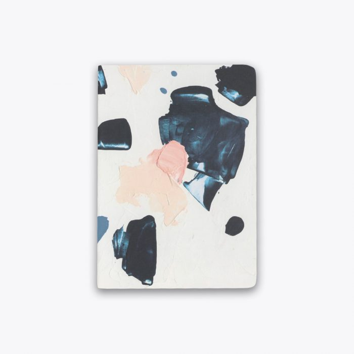 Indigo N Peach Play Saddle Stitch Notebook by Ashley Mary Front Cover by Ashley Mary