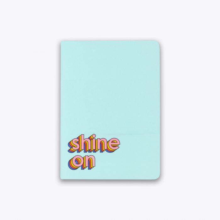 Shine On Saddle Stitch Notebook by Ashley Mary