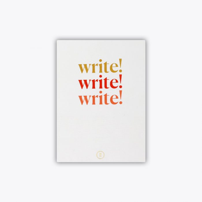 Note to Self Journal Write Write Write Front Cover